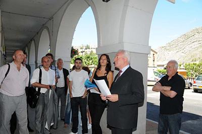 Visite commerces M. Spagnou et le comité de pilotage FISAC